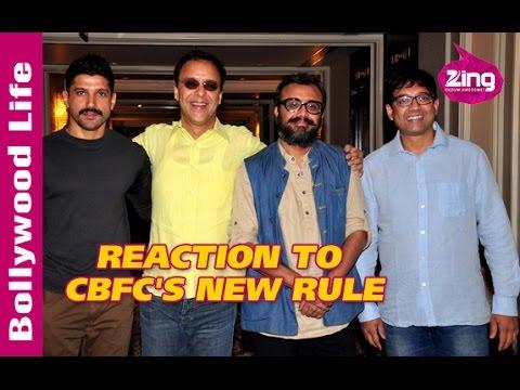 Vidhu Vinod Chopra, Farhan Akhtar, Dibakar Banerjee, Anurag Kashyap miffed with CBFC's new rule