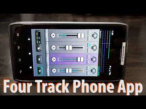 Record Four track Acoustic Guitar song on RAZR Android Smarphone