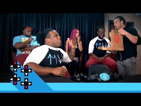Xavier Woods & the UpUpDownDown squad dig into Pizza Hut's Bacon Stuffed-Crust Pizza: May 9, 2016
