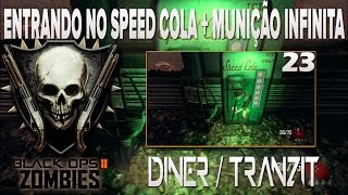 COD BO2 - ZOMBIES 23- Entrando no speed cola + munição infinita (mp5) Túnel/Tranzit . (Funcionando)