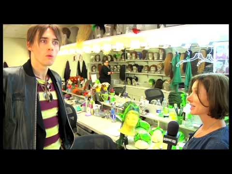 Star Reeve Carney Shows Off 'Crazy Gangsters,' and the 'A-Hole' Backstage at