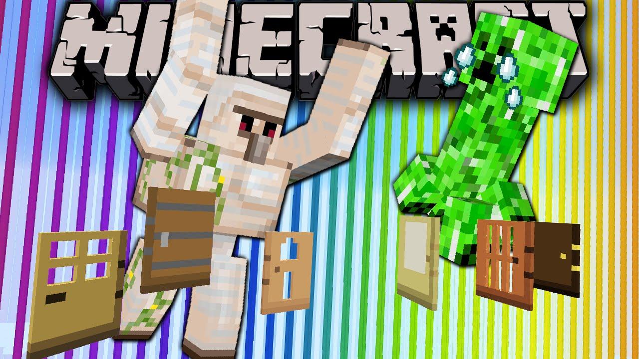 Minecraft 1 8 Snapshot Door Redesign Golems Hunt