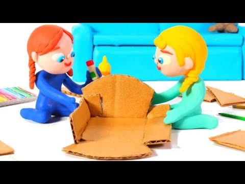 SUPERHERO BABIES MAKE BEDS FOR THE DOLLS ❤ Superhero Babies Play Doh Cartoons For Kids