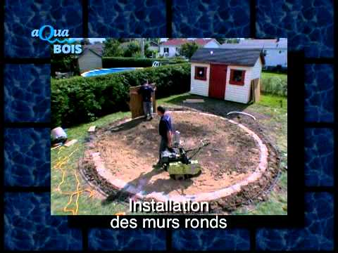 Piscine ronde hors sol ou semi creus e youtube for Comparatif piscine coque ou beton