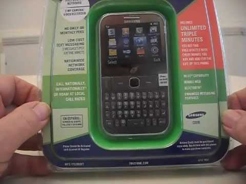 Samsung S390G Unboxing