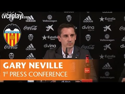 PRESS CONFERENCE FROM GARY NEVILLE'S OFFICIAL PRESENTATION AT VALENCIA CF