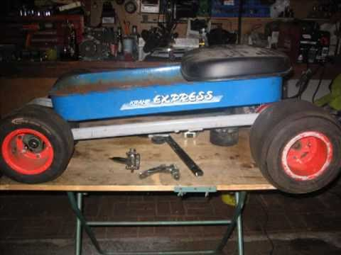 Motorized Radio Flyer from recycled materials