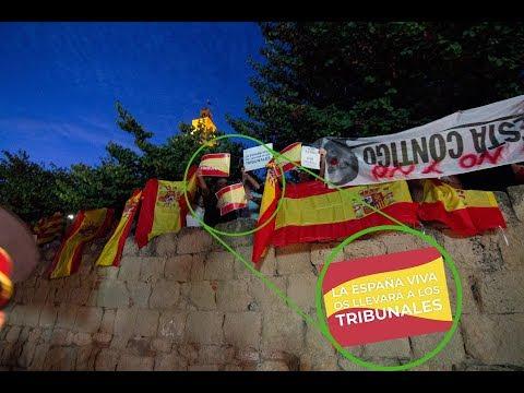 200 españoles paran la intervención de Torra en Sant Cugat del Valles 16.09.2018
