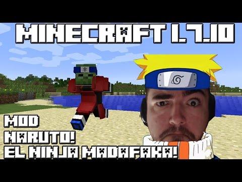 Minecraft 1.7.10 MOD NARUTO EL NINJA MADAFAKA