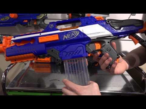 NERF -N-Strike Elite XD Rapidstrike cs-18 unboxing and review!