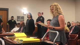 Victim's mom speaks at Tracey Brown's sentencing