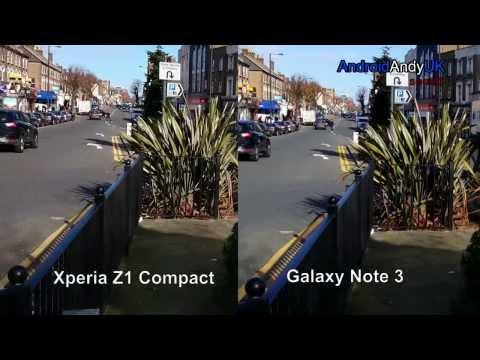 Sony Xperia Z1 Compact vs Samsung Galaxy Note 3 1080p HD Video Comparison