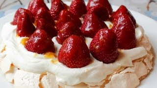 Pavlova - Fresh Strawberry Pavlova Recipe - Easter Dessert Special