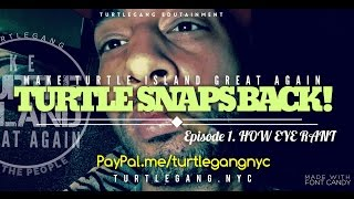TURTLE SNAPS BACK: How Eye Rant!!!!