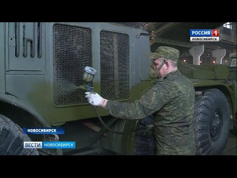 Военные заканчивают подготовку техники к параду 9 Мая