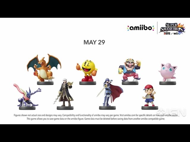 Super Smash Bros. for Wii U Wave 5 and 6 Amiibo Figures from Nintendo Direct