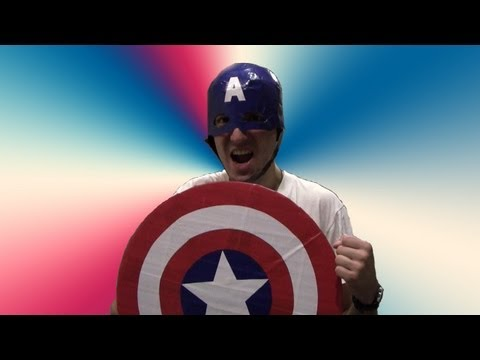 How to make a Duct tape Captain America shield!