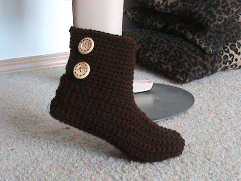Crochet Glamas 2 In 1 Bootie Slipper Tutorial Super Easy For