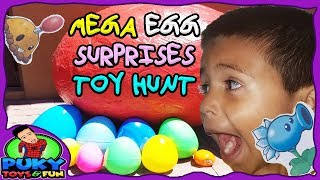 Mega Surprise Egg Hunt CHALLENGE for Easter BUNNY with TONS of TOYS ⛑🏹 -Puky Toys and Fun