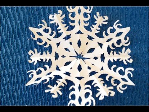 Как сделать снежинку из бумаги смотреть онлайн 158