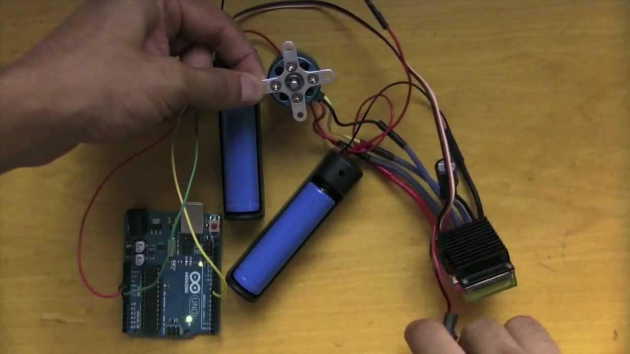 Controlling brushless motors arduino tutorial youtube for Sensorless bldc motor control