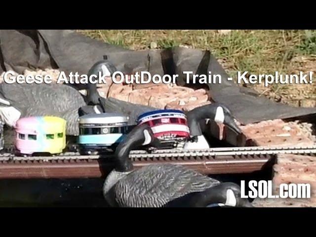 Train Derailment Off Bridge Into Water!  - Plunk - Plunk - Plunk