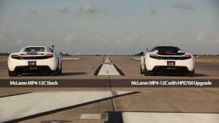 707 HP Hennessey McLaren vs Stock 616 HP McLaren - Drag Race