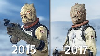Bossk Battlefront 1 (2015) vs Battlefront II (2017) Graphics Comparison