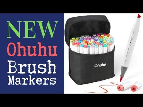 NEW Ohuhu Brush Alcohol Marker set of 72 Affordable Copic Alternative