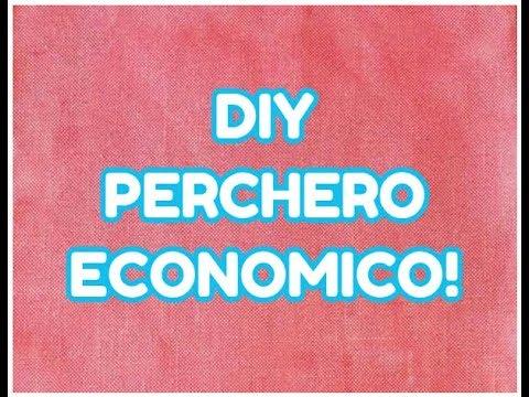 Como hacer perchero para ropa economico youtube for Percheros de pie leroy merlin