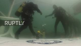 Turkey: Aquarium man breaks world diving record