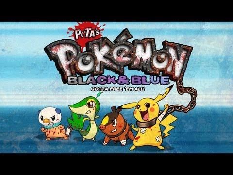 Pokémon Black & Blue -- Peta's Terrible Parody Game! video