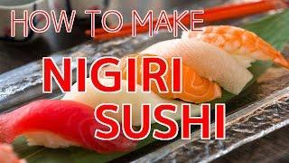 How to Make Nigiri Sushi 【Sushi Chef Eye View】