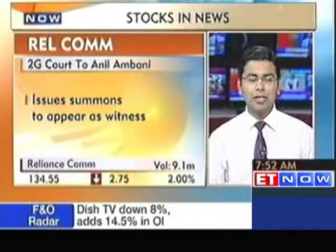 Stocks In News : Tata Steel, Rel Comm, India Cements