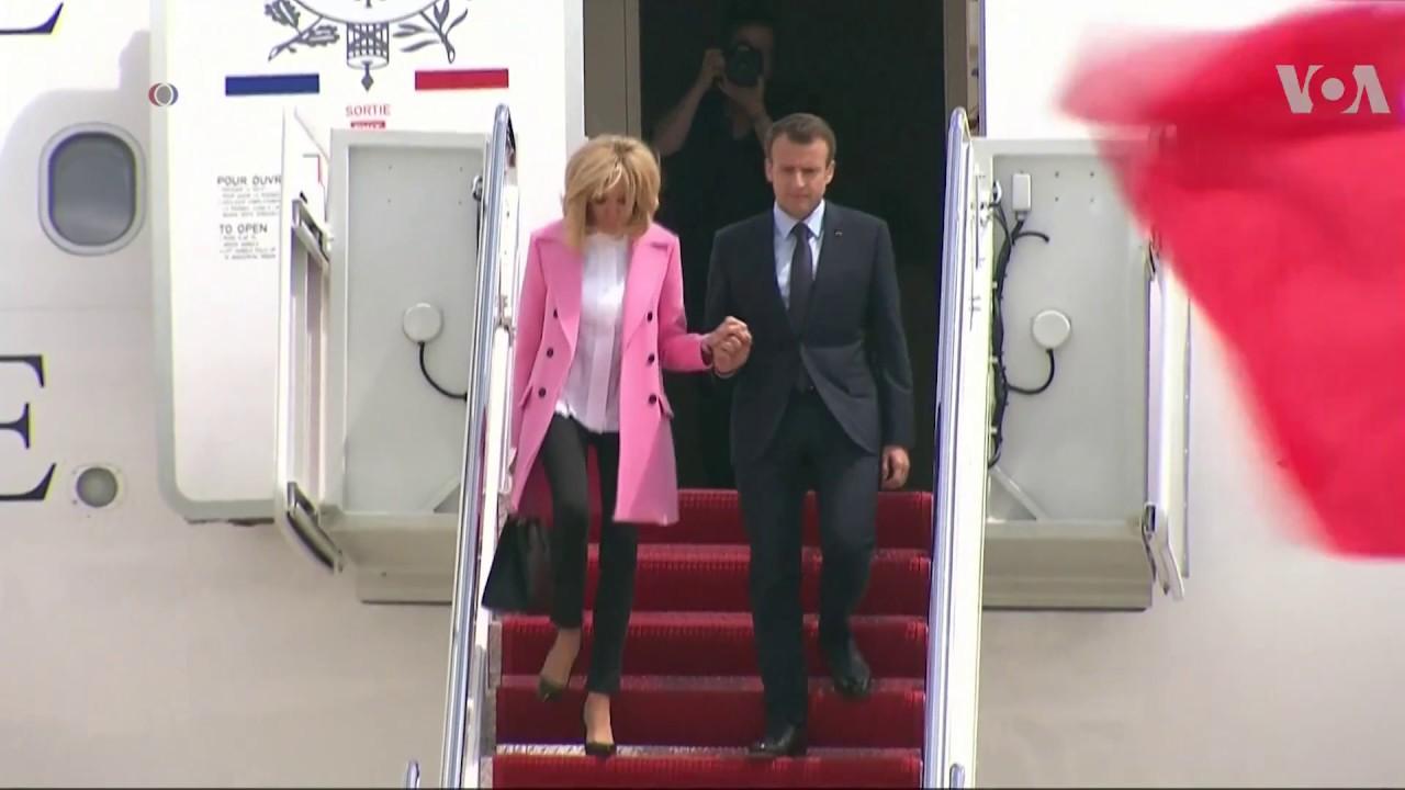 Macron Starting State Visit with Trump