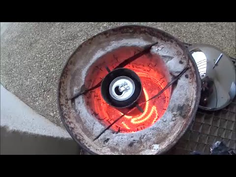 Homemade electric forge (melting aluminum)