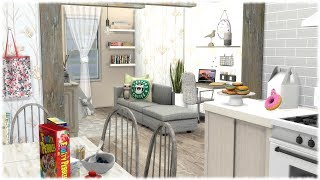 The Sims 4: Speed Build // TINY FAMILY APARTMENT + CC LINKS
