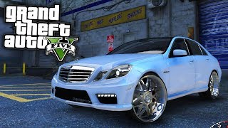 Mercedes-Benz E-Class on Forgiatos! GTA 5 Real Life Mod #38 (Real Hood Life 4)