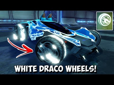 *OMG* TITANIUM WHITE PAINTED DRACO WHEELS! | Rocket League's BEST Looking Wheels Of All Time?!