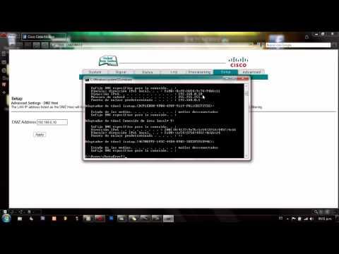 Abrir Puertos del modem Cisco DPQ2425