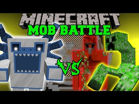 MUTANT YETI VS QUARTZ GOLEM, MUTANT CREEPER, & MUTANT OBSIDIAN GOLEM - Minecraft Mob Battles - Mods