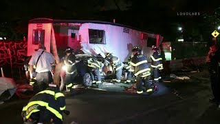 Fatal Car VS Trailer | FDNY Extrication