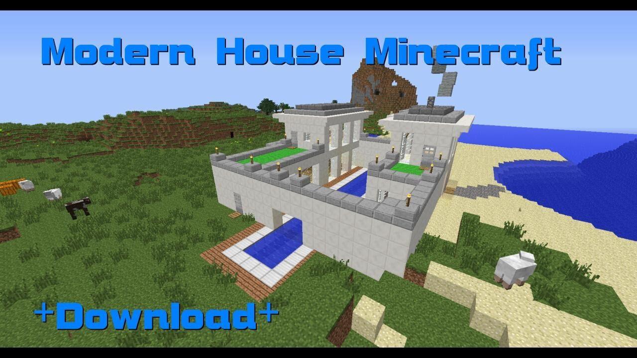 Modernes haus minecraft map download youtube for Modernes haus in minecraft