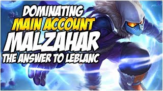 DOMINATING MALZAHAR! The Answer to Leblanc! - Climb to Master S8 | League of Legends