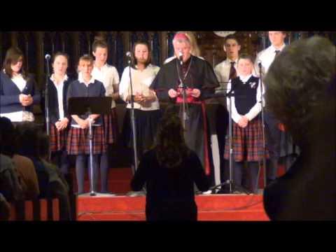 Wayside Academy sings 'O Danny Boy' with Bishop McGrattan! - 10/23/2014