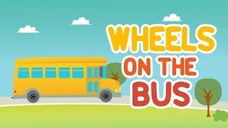The Wheels On The Bus Go Round and Round • Nursery Rhymes Song with Lyrics • Animated Kids Song