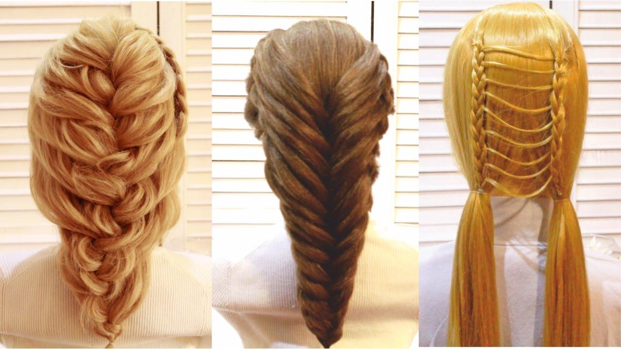 Причёски с плетеньем лёгкие