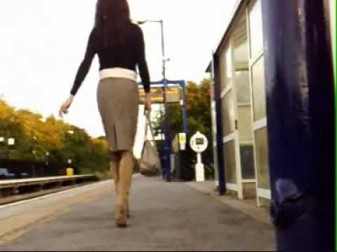 transvestite / tgirl train station crossdressing