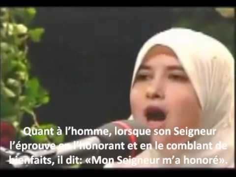 Sümeyye Eddeb Sourate  89 - Al-fajr : L'aube  Magnifique Recitation video