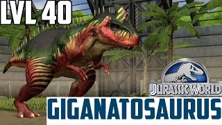 Jurassic World The Game - Giganotosaurus - Level 40